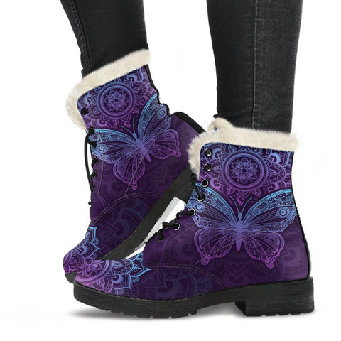 Image of Purple Butterfly Boots