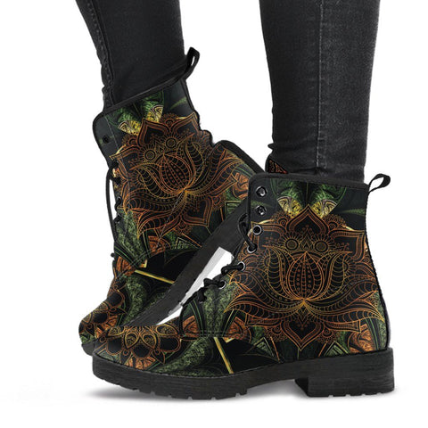 Image of Lotus Mandala Handcrafted Boots