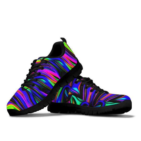 Funky Fractal Art Handcrafted Sneakers