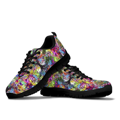 Image of Colorful Tree of Life Handcrafted Sneakers