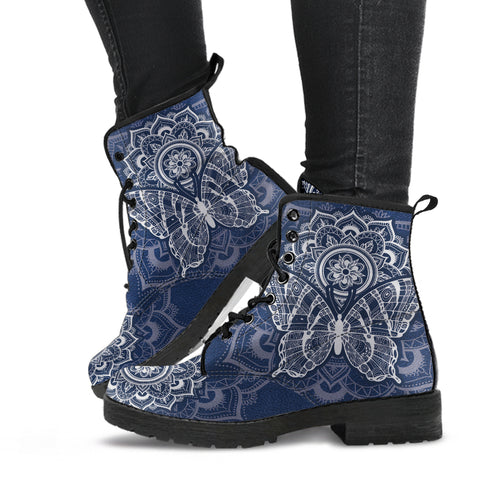 Image of Blue Butterfly Boots