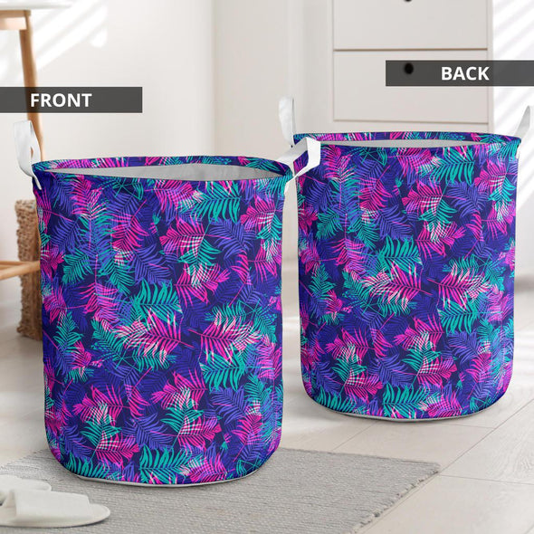 Colorful Palm Tree Laundry Basket