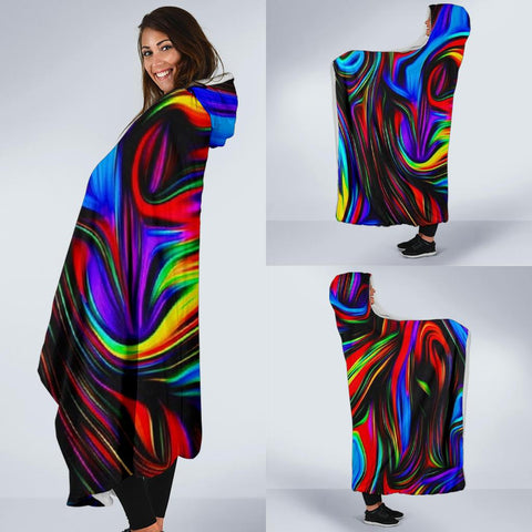 Image of PSYCHEDELIC Art Hooded Blanket