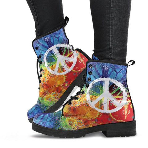 Image of Colorful Peace Boots 2
