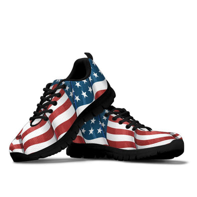 USA Flag Handcrafted Sneakers