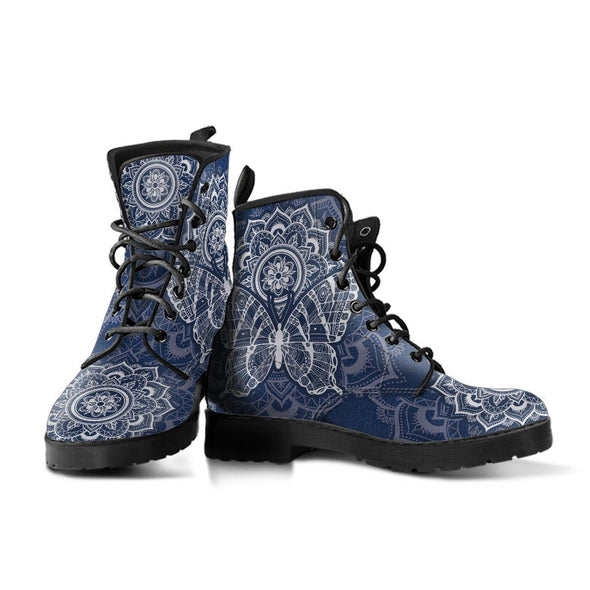 Blue Butterfly Boots