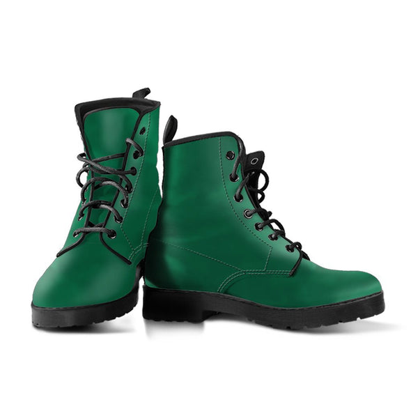 Solid Dark Green Boots