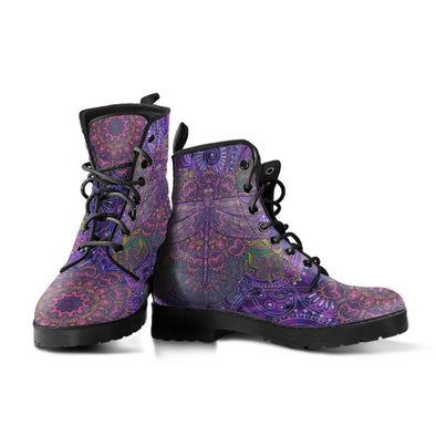Purple Paisley Dragonfly Boots