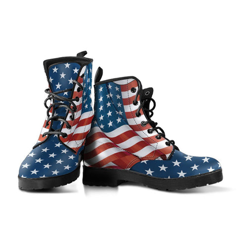 Image of US Flag Handcrafted Boots
