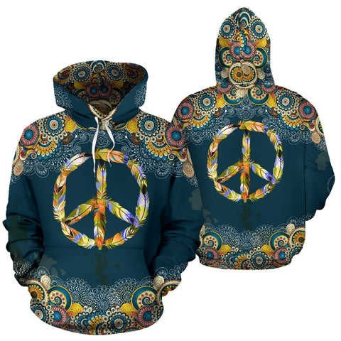 Feather Peace Mandala Hoodie