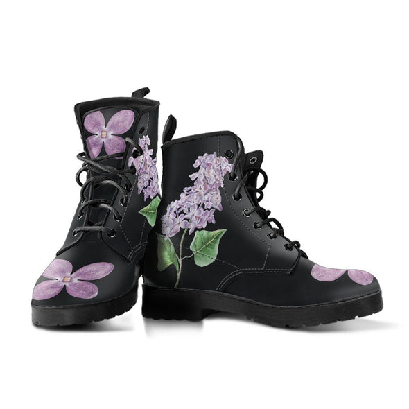 Lilac Flower Boots