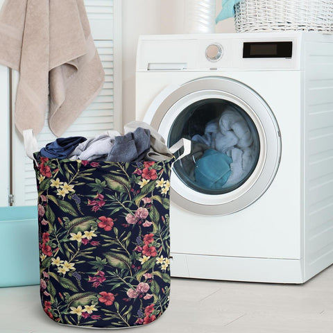 Image of Tropical Flower Laundry Basket