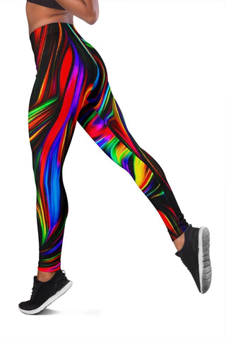 Image of ⭐⭐⭐⭐⭐ Love that the leggings and shoes match. - Renee P. Fractal Art Leggings