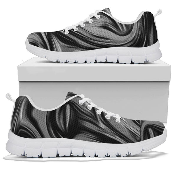 Fluid Art Grey Handcrafted Sneakers