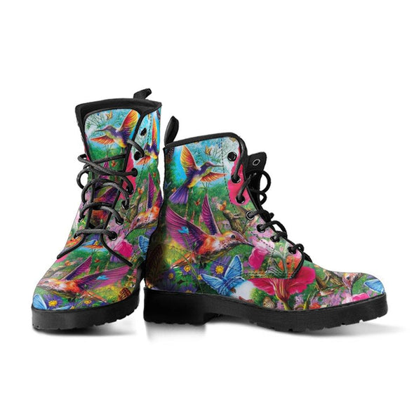 Hummingbird & Flower Boots