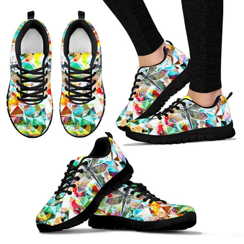 Image of Dragonfly Art Handcrafted Sneakers