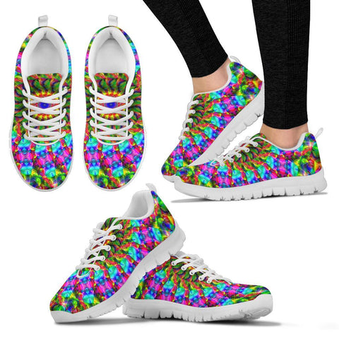 Image of Colorful Mandala Handcrafted Sneakers