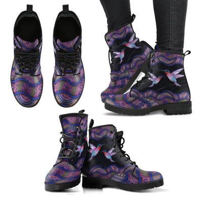 Purple Hummingbird Boots