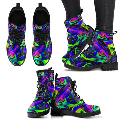 Funky Fractal Art Handcrafted Boots