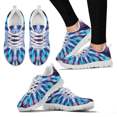 Glowing Mandala Handcrafted Sneakers