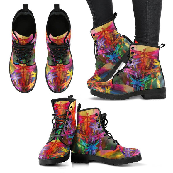 Colorful Dragonfly Dreamcatcher Boots