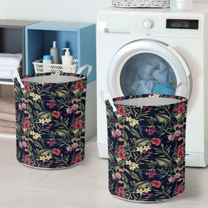 Tropical Flower Laundry Basket