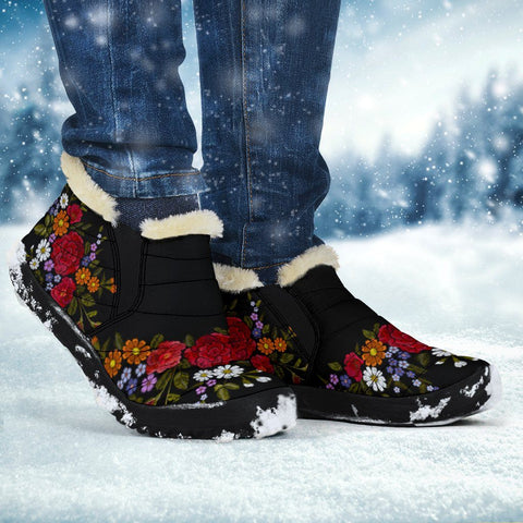 Colorful Flower Winter Sneakers