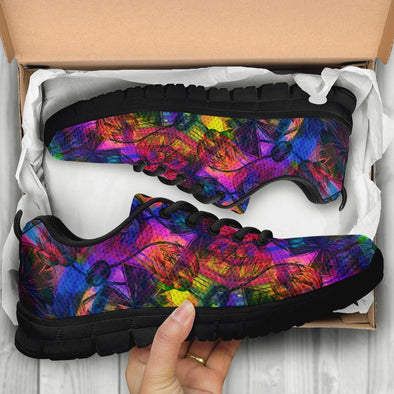 Colorful Lotus Handcrafted Sneakers