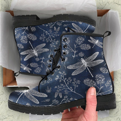 Blue Dragonfly Boots 2