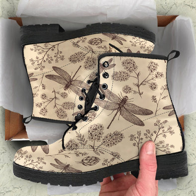 Beige Dragonfly Boots