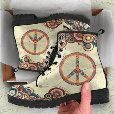 Beige Peace Boots