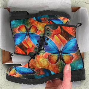 Rustic Butterfly Boots