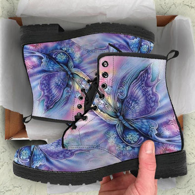 SIZE 9 WOMENS - WATERCOLOR BUTTERFLY BOOTS - CLEARANCE