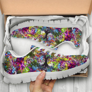 Colorful Tree of Life Handcrafted Sneakers