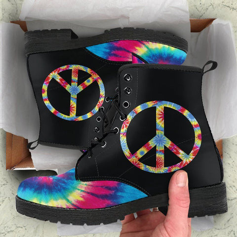 Image of Tie Dye Peace Boots