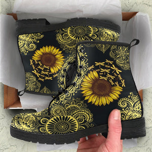 Sunflower Dragonfly Boots