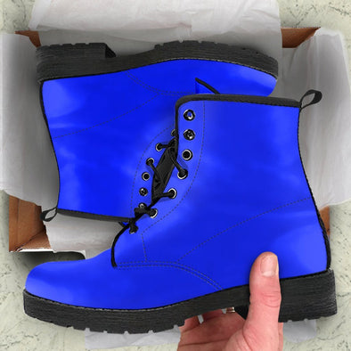 Solid Blue Boots
