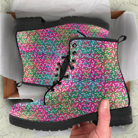 Image of Colorful Fractal Mandala Boots