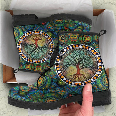Psychedelic Tree Boots