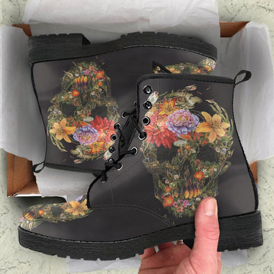 Floral Skull Boots