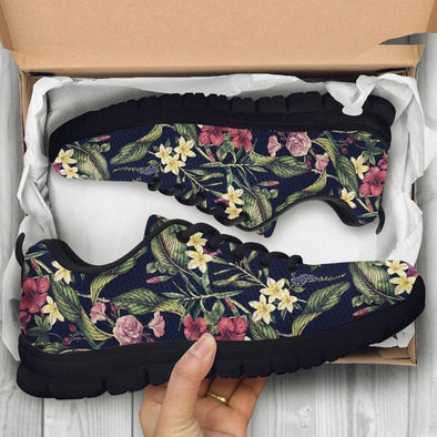 Tropical Flower Handcrafted Sneakers