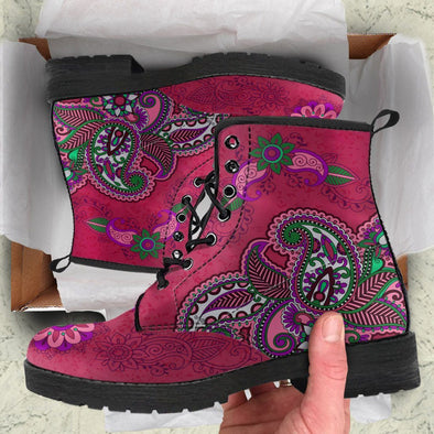 Henna Flowers Handcrafted Boots V2