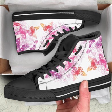 Colorful Butterfly Handcrafted High Tops