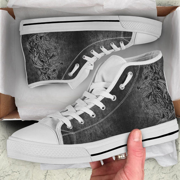Wolf Dream Catcher Handcrafted High Tops