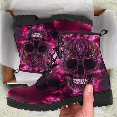Oriental Skull Handcrafted Boots