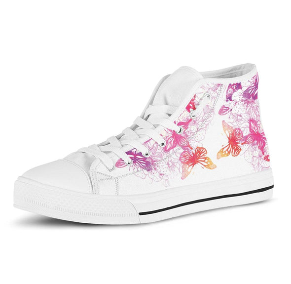 Colorful Butterfly High Tops