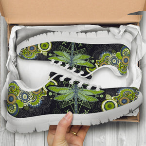Mandala Dragonfly Handcrafted Sneakers