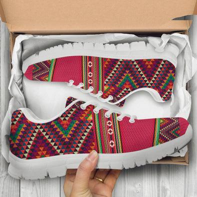 Red Aztec Handcrafted Sneakers