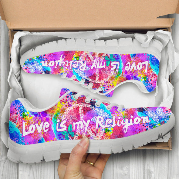 Love Is My Religion Handcrafted Sneakers