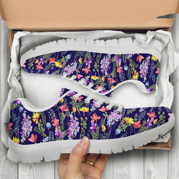 Colorful Flower 5 Handcrafted Sneakers